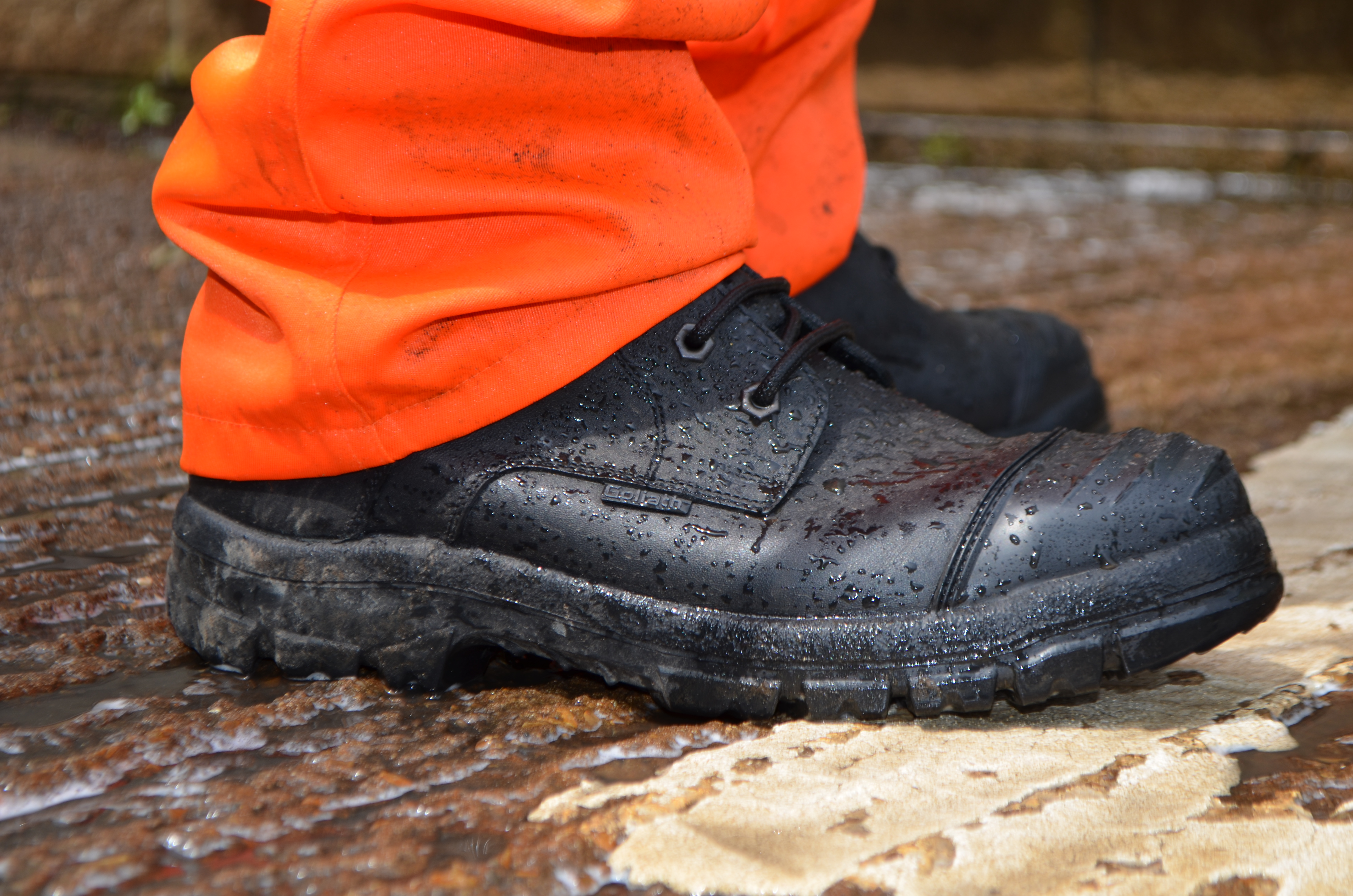 GORE-TEX®  Construction and Utility boots for all day comfort.